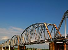 An iron bridge Royalty Free Stock Images