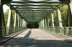 Iron bridge. Over the railway of the city Groningen, The Netherlands Stock Photo