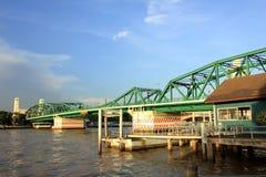 Iron Bridge. The bridge across the river on Bangkok Thailand Royalty Free Stock Photography