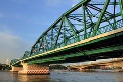 Iron Bridge. The bridge across the river on Bangkok Thailand Royalty Free Stock Photos