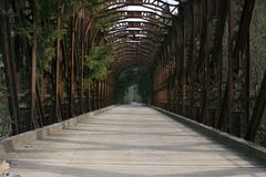 Iron bridge Royalty Free Stock Image
