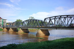Iron Bridge across Ping river Royalty Free Stock Photography