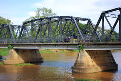 Iron Bridge across Ping river Royalty Free Stock Images