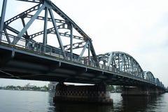 The Iron Bridge. Iron bridge in Asia, Thailand Stock Images