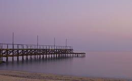 Iron bridge at the beach Stock Photo