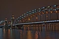 The iron bridge Bolshiohtinskiy Stock Photography