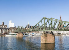 The Iron Bridge (so called Eiserner Steg) at Frankfurt Main Stock Image