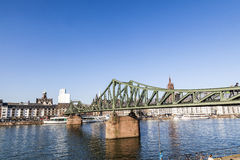 The Iron Bridge (so called Eiserner Steg) at Frankfurt Main Royalty Free Stock Photos