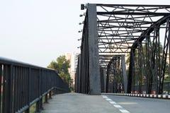 Iron bridge on cement pillars Royalty Free Stock Images