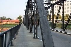 Iron bridge on cement pillars Stock Photography