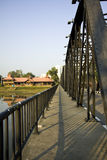 Iron bridge Chiangmai Thailand Royalty Free Stock Photography