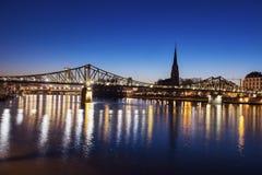 The Iron Bridge and Dreikonigskirche Stock Photo