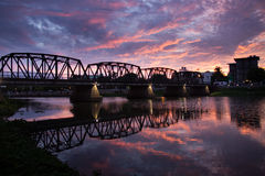 Iron Bridge in early morning moment Royalty Free Stock Image