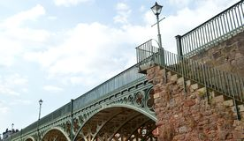 Iron bridge. exeter royalty free stock images