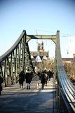 Iron Bridge Frankfurt Stock Photos