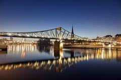 The Iron Bridge in Frankfurt Royalty Free Stock Image