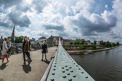 Iron Bridge in Frankfurt am Main city Stock Photography