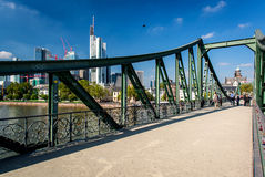 Iron Bridge in Frankfurt am Main Royalty Free Stock Photography