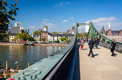 Iron Bridge in Frankfurt am Main Royalty Free Stock Images
