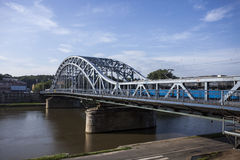 Iron Bridge in Krakow, Poland Royalty Free Stock Images