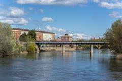 The iron bridge in Logroño, La Rioja. Spain. Stock Photography
