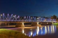 Iron bridge At Night Stock Photography