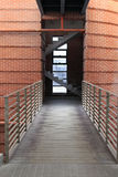 Iron bridge in the office building Stock Photography