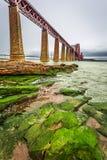Iron bridge over bay in Edinburgh Royalty Free Stock Photos