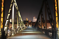 Iron bridge over the Main river. Frankfurt Stock Photography