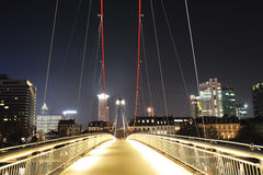 Iron bridge over Main river in Frankfurt Royalty Free Stock Images