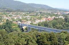 Iron bridge over the river Minho Stock Images