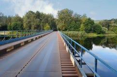 Iron Bridge over the river Royalty Free Stock Photos