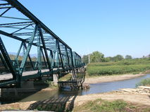 Iron Bridge at Pai. Northern Thailand Stock Image