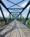 Iron bridge at pai river Royalty Free Stock Photography