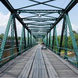 Iron bridge at pai river Stock Photo