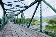 Iron bridge at pai river Stock Image