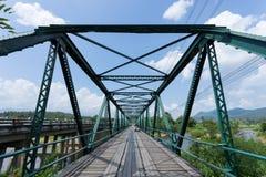 Iron bridge at pai river Stock Photos