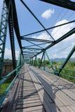 Iron bridge at pai river Royalty Free Stock Image