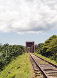 Iron bridge in railroad Stock Images