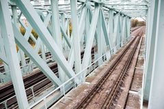 Iron bridge rails Stock Photos