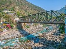 Iron bridge in Rudraprayag Stock Photography