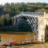 The Iron Bridge, Shropshire, UK. A view over the River Severn in Shropshire, England, with the famous Iron Bridge which gave the nearby town of Ironbridge its Stock Images