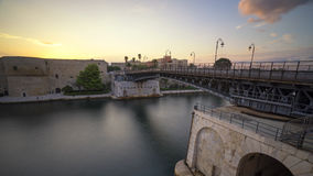 The iron bridge of taranto royalty free stock photography