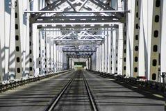 Iron bridge to uzbekistan Royalty Free Stock Photos