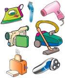 Iron, camera, vacuum cleaner, bread toaster Stock Photos