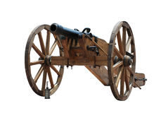 Iron cannon Stock Images