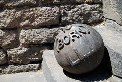 Iron cannon ball Royalty Free Stock Photography
