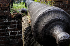 Iron canon. An old canon in a spanish fort in the Philippines Royalty Free Stock Image
