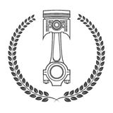Iron car piston in the form of awards.  Stock Photography