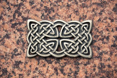 Iron cast celtic knot Royalty Free Stock Image